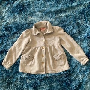 Juicy Couture girls heather gray bow jacket